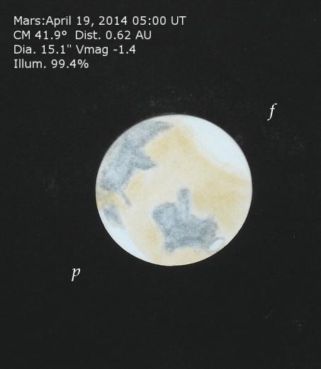 Mars in color - April 19, 2014