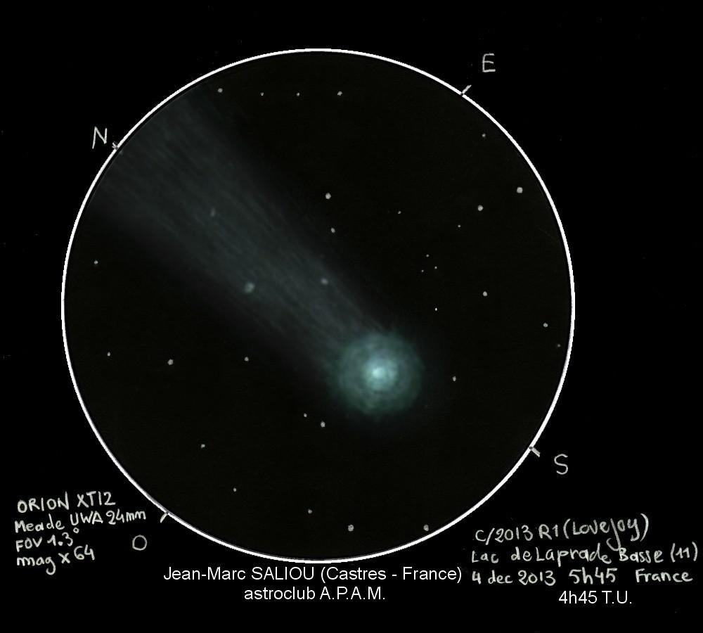 Comet C2013R1 Lovejoy - December 4, 2013