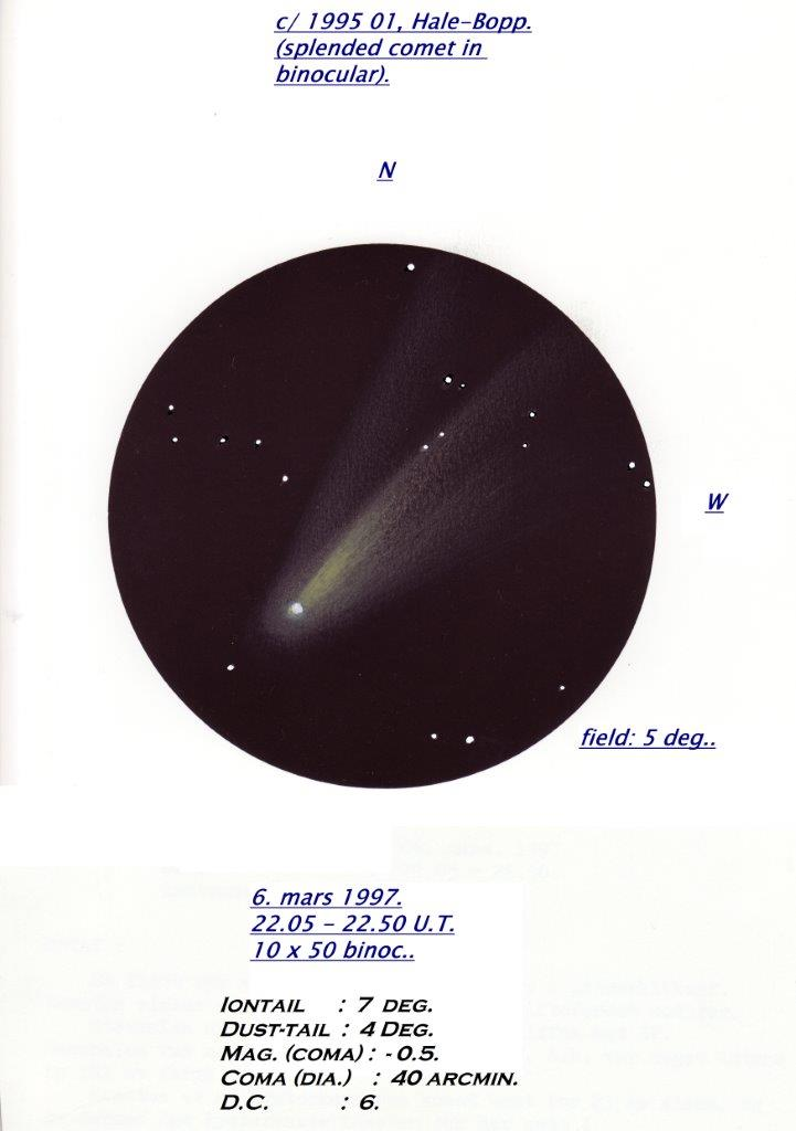Comet C/1995 01 Hale-Bopp - March 6, 1997