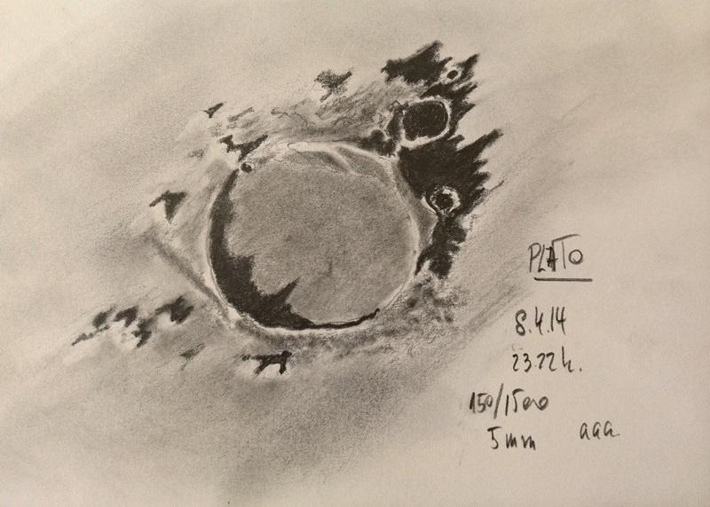 Lunar crater Plato - April 8, 2014