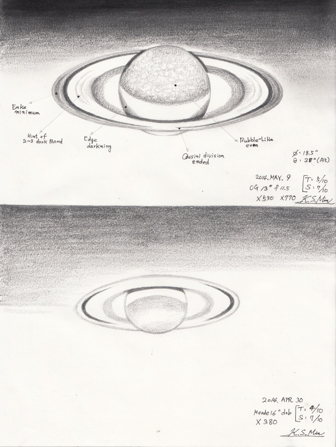 Saturn - May 9, 2014 and April 30, 2014
