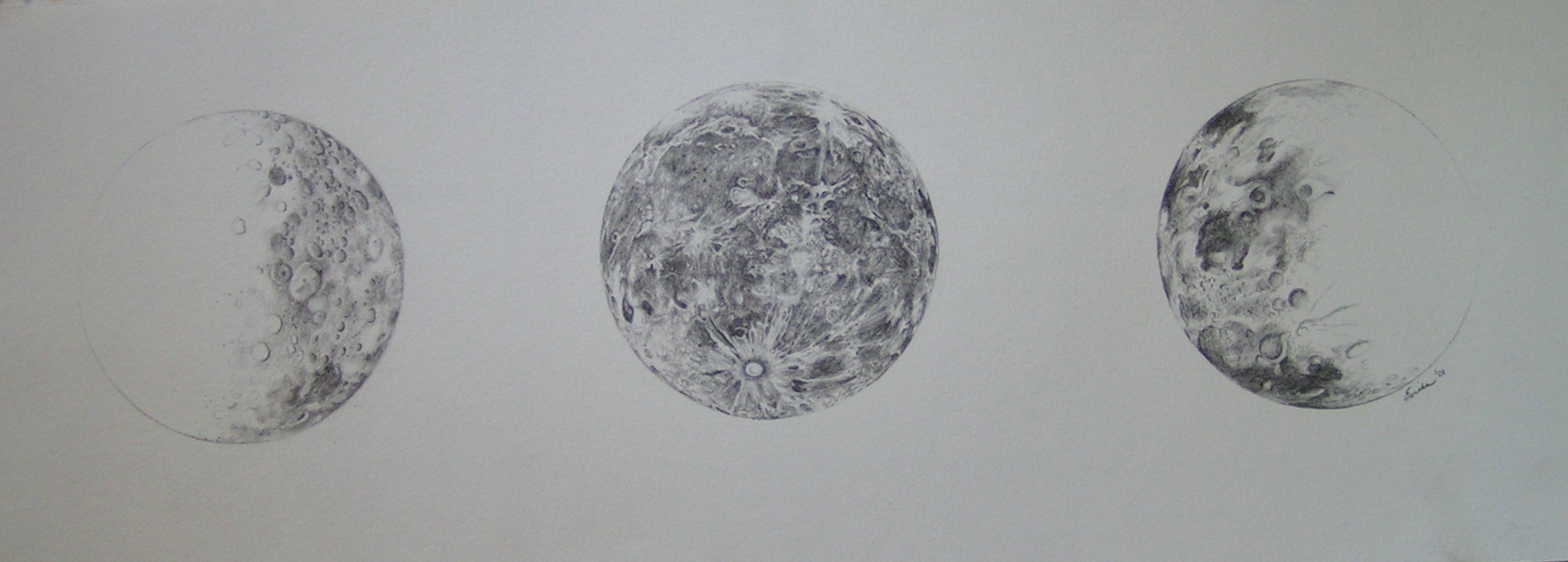 """Phases Of The Moon"""" Astronomy Sketch Of The Day - 1965x705 - jpeg"""