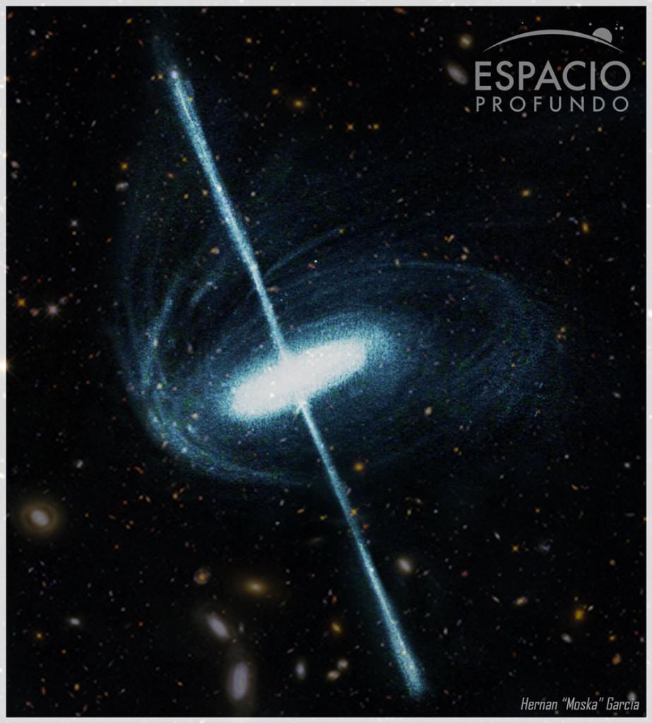 Artistic representation of a quasar
