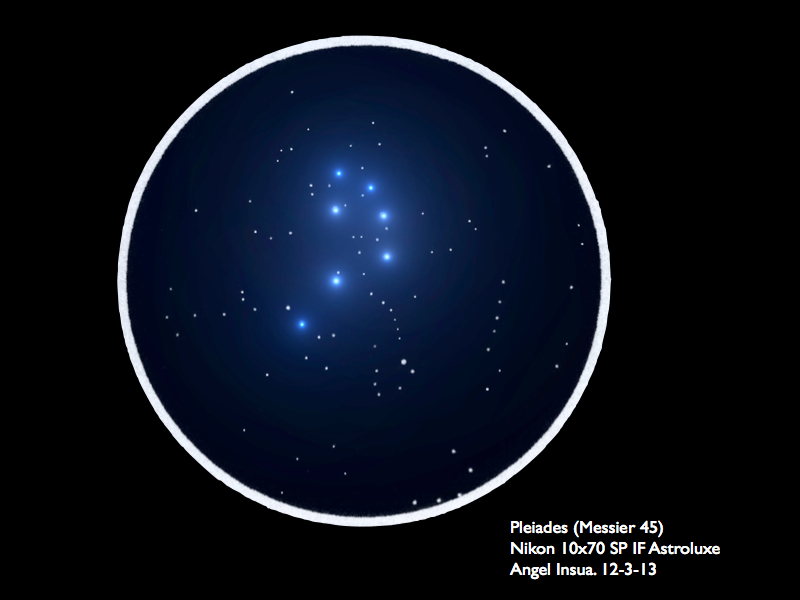 Messier 45, The Pleiades Open Cluster