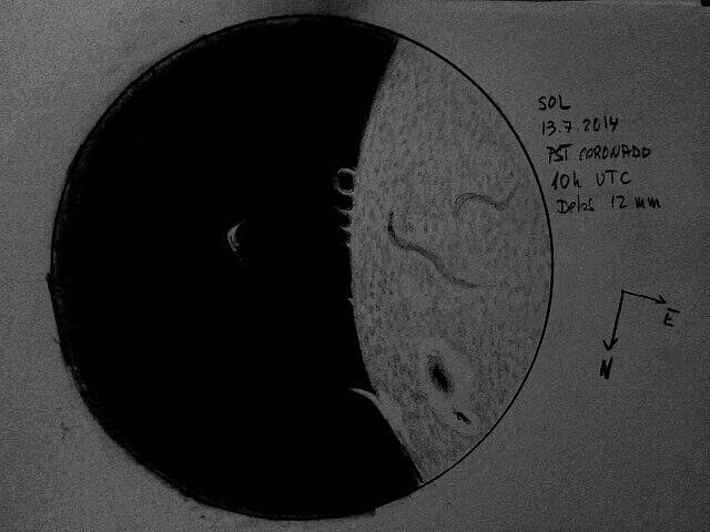 The Sun in H-alpha - July 13, 2014