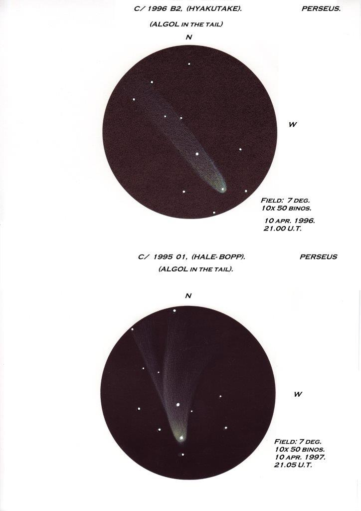 Comet C/1996 B2 (Hyakutake) - April 10, 1996 and Comet C/1995 01 (Hale-Bopp) - April 10, 1997