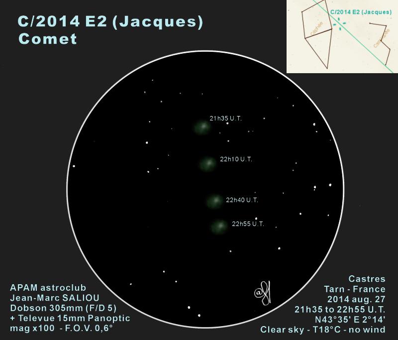 Comet C/2014 E2 Jacques -  August 27, 2014