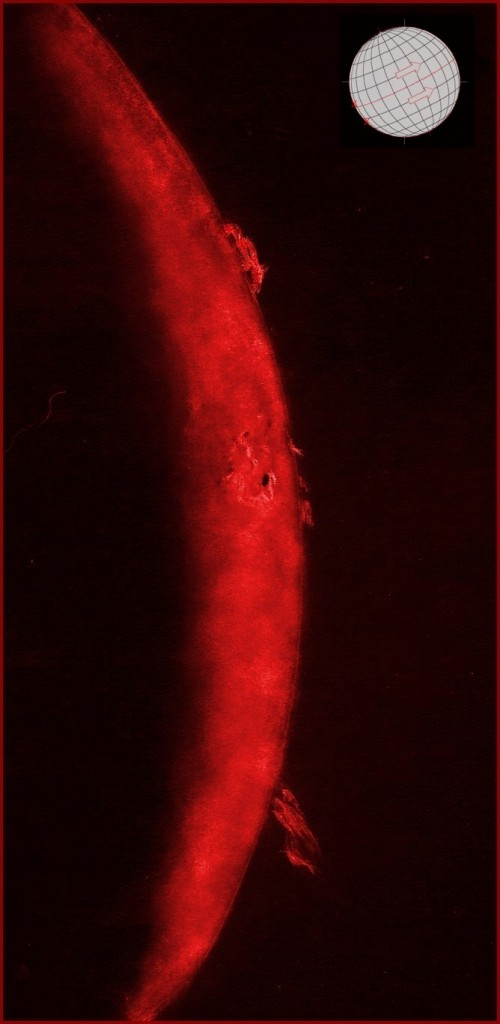 Solar prominences including a spiraling prominence - October 12, 2014