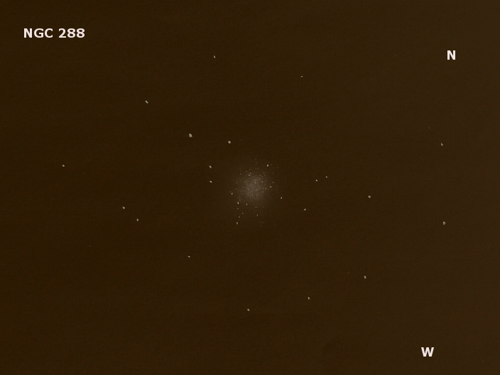 NGC 288, a globular star cluster in the constellation Sculptor