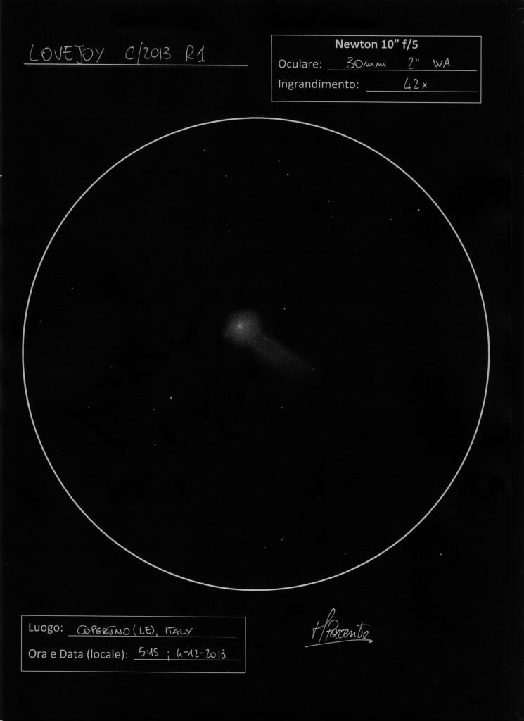 Comet C/2013 R1 Lovejoy - December 4, 2013