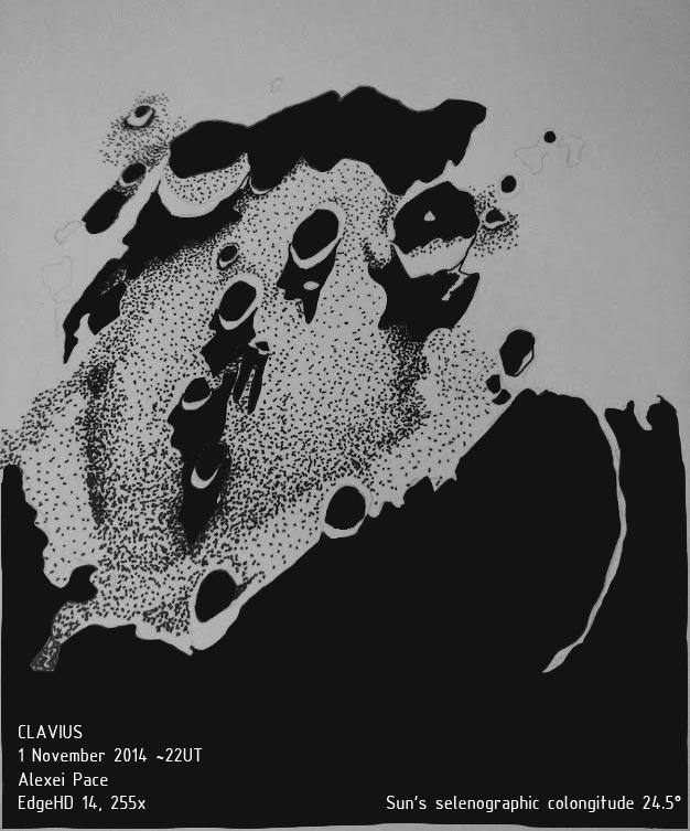 Lunar crater Clavius - November 1, 2014
