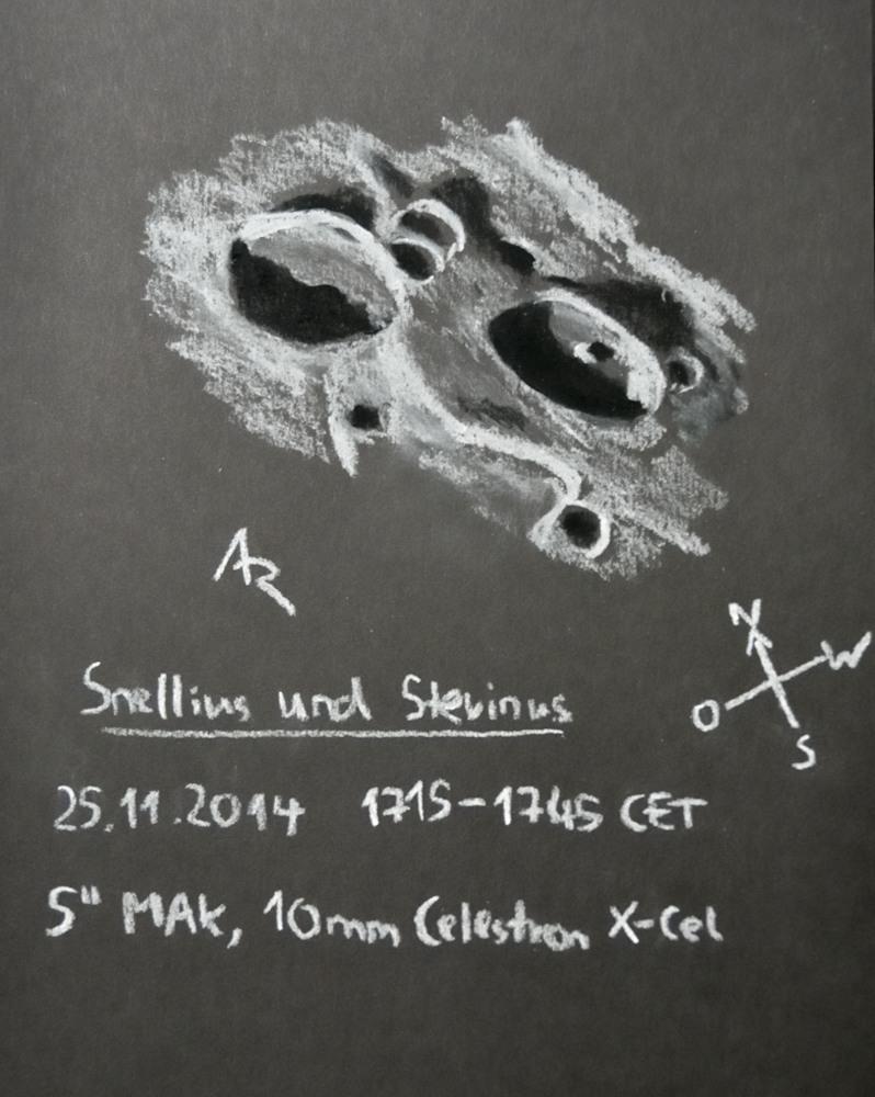 Lunar craters Snellius and Stevinius - November 25, 2014