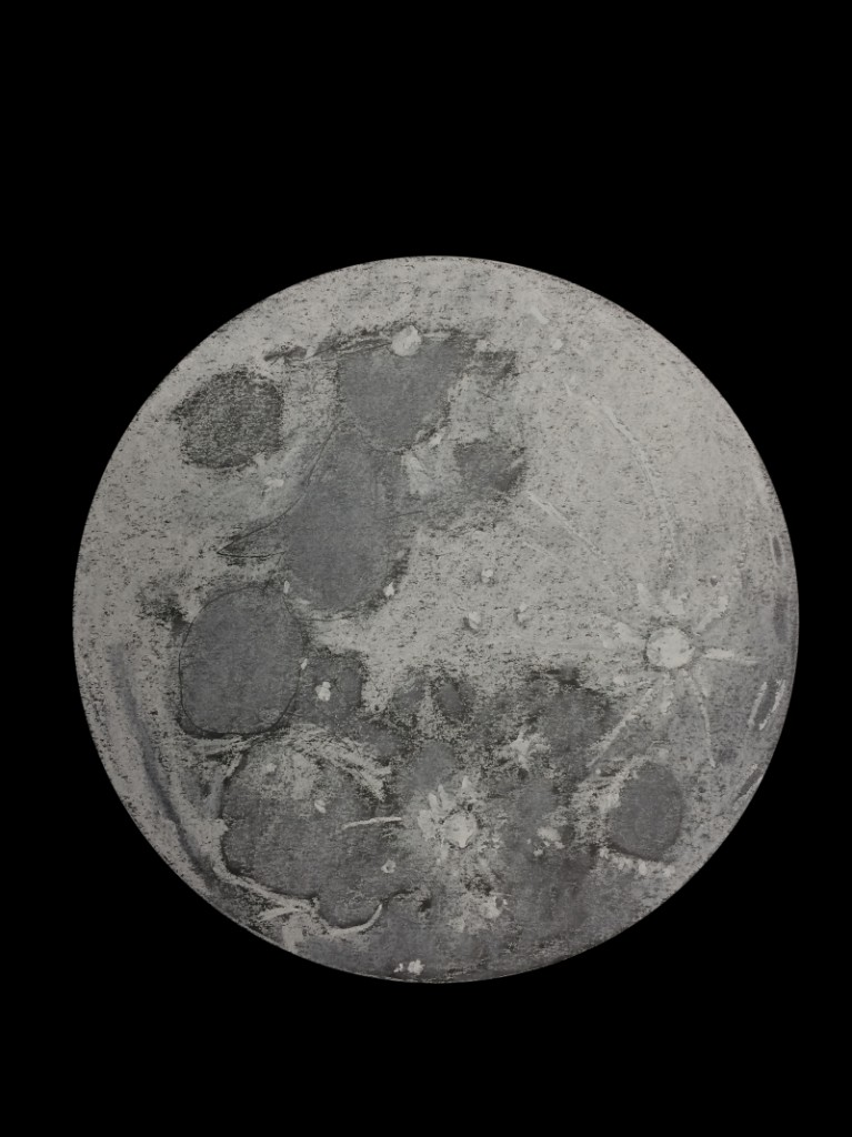 The Rabbit on the Moon, a naked eye sketch showing a commonly recognized pattern - November 5, 2014