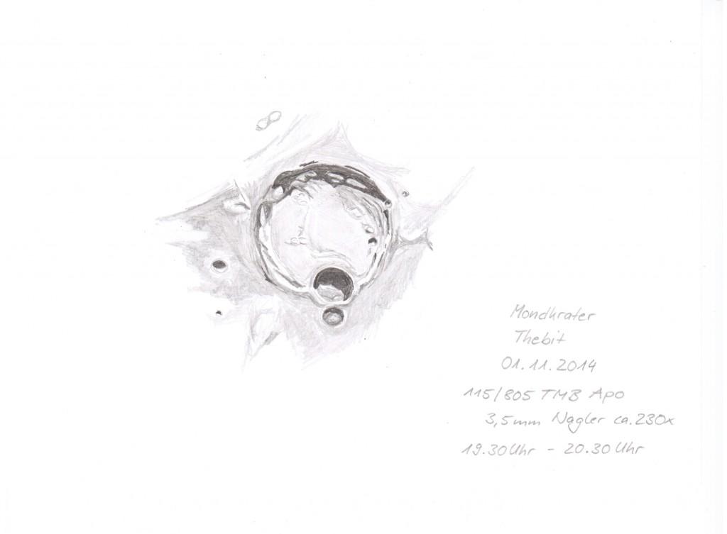 The Lunar crater Thebit - November 1, 2014