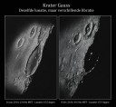 The lunar crater Gauss and environs seen in different librations on January 16, 2014 and December 8, 2014