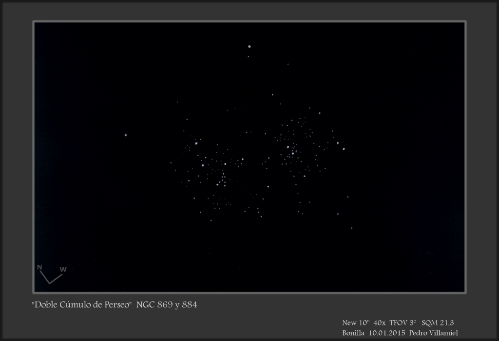 The Perseus Double Cluster  two large open clusters in the constellation Perseus