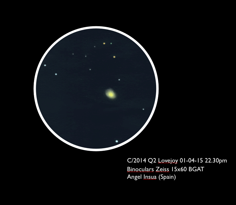 Comet C/2014 Q2 (Lovejoy) - January 4, 2015
