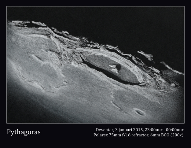 Lunar crater Pythagoras - January 3, 2015