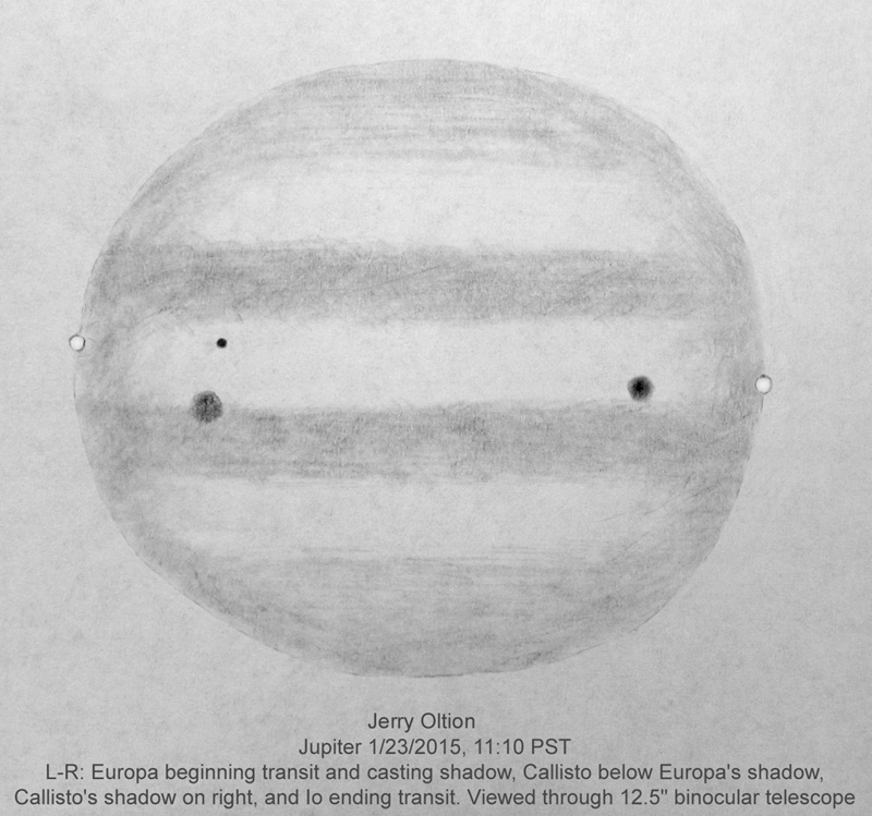 Jupiter Triple Transit - 23 January 2015