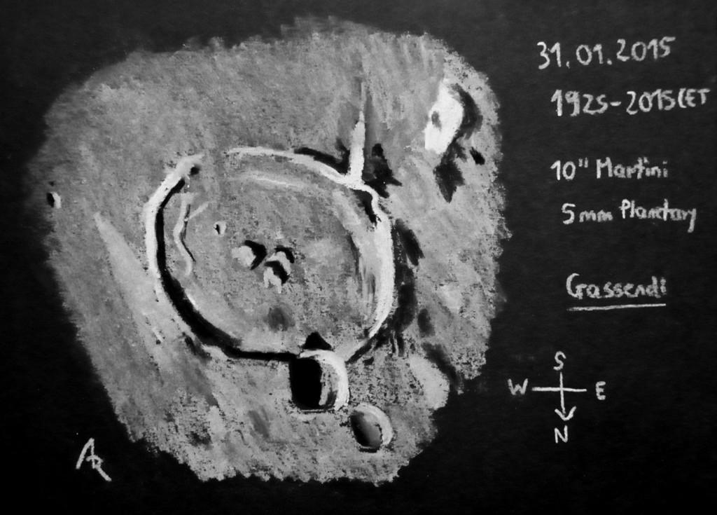 Crater Gassendi - 31 January 2015