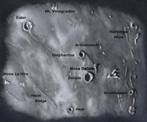 Craters Diophantus and Delisle - Labeled