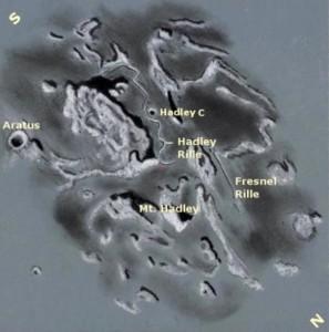 Apollo 15 Landing Site - Labeled