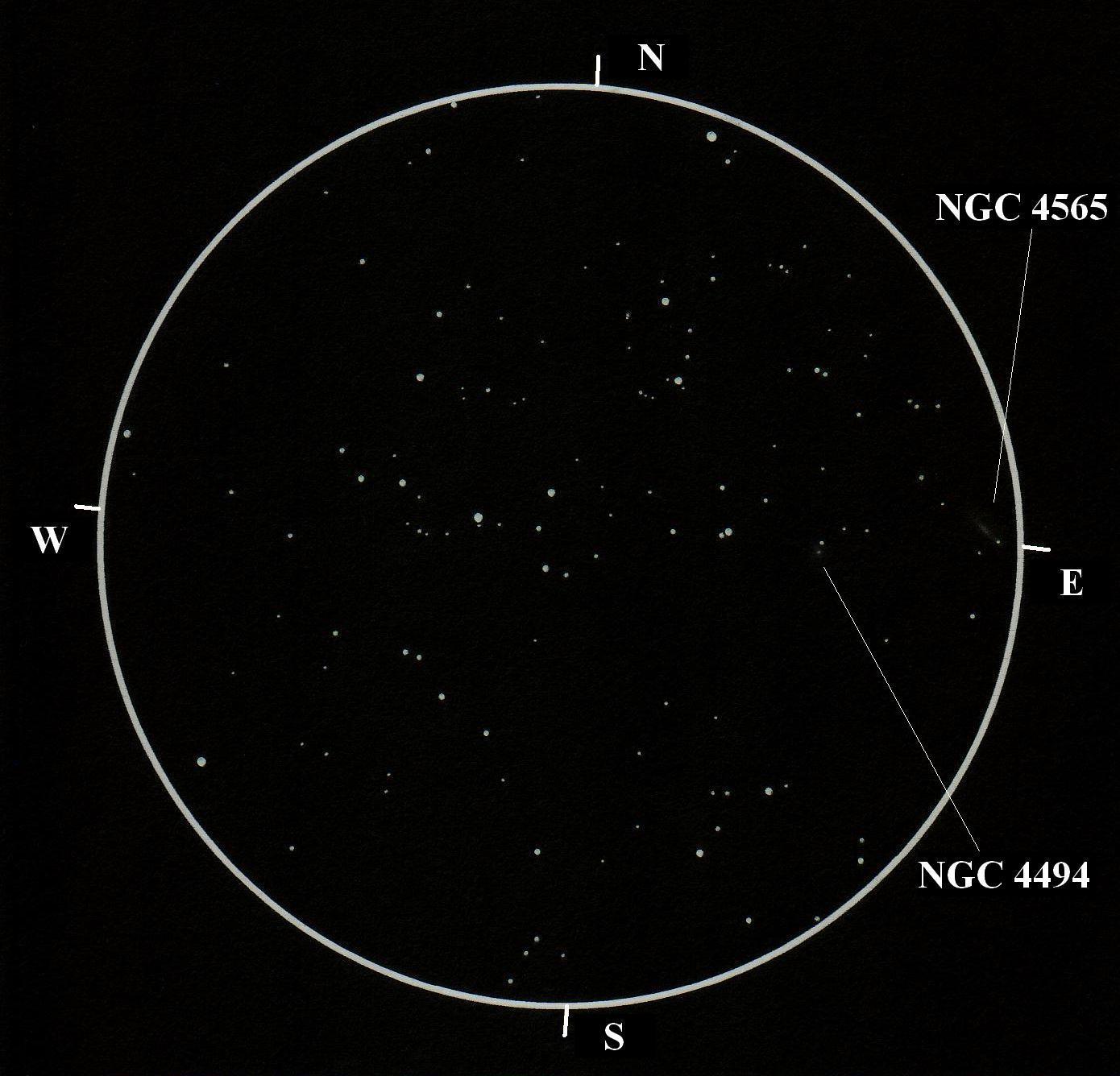 Melotte 111, NGC 4494, NGC 4565